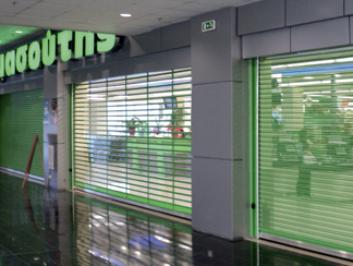 POLYCARBONATE TRANSPARENT ROLLER SHUTTERS